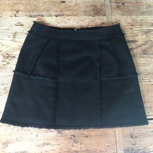 J.O.A. Los Angeles shearling skirt size M